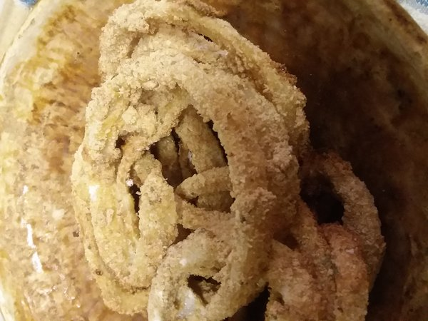onion rings made in Dash air fryer