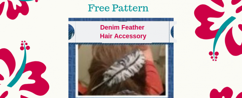 Bohemian denim reversable hair accessory