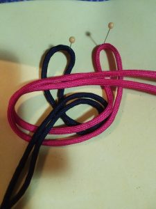macrame diy hair accessory