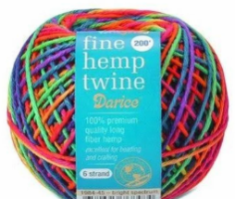 fine hemp twine used for macrame hem on blessedelements